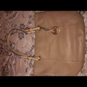 Tan Micheal kors purse